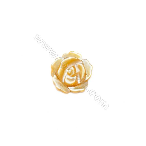 Wholesale yellow mother-of-pearl shell,8mm, hole 1mm, 40pcs/pack