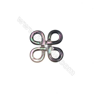 Butterfly knot pattern gray mother-of-pearl shell, Size 23mm, x 10pcs/pack