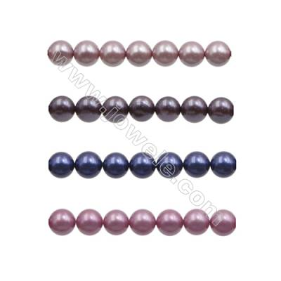 10mm Violet Series Shell Pearl Beads  Hole 1mm  about 40 beads/strand 15~16""