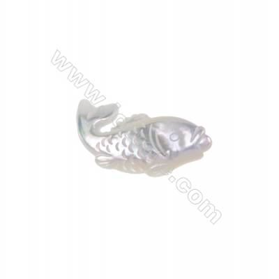 Delicate carp white mother-of-pearl shell, diameter 15x31mm, x 10pcs/pack