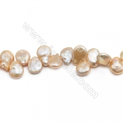 "Fresh Water Pink Pearl Beads Strand, Teardrop, Size 13~14x16~18mm, Hole 0.8mm, 15~16"" x 1strand"