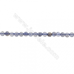 Natural Iolite Beads Strand, Round, Diameter 2mm, hole 0.6mm, about 188 beads/strand, 15~16""