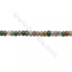 3x4mm Natural Indian Agate Beads Strand, Faceted Abacus, hole 0.8mm, about 135 beads/strand, 15~16""
