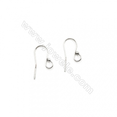 925 Sterling Silver Earring hook-H734, Size 9x21mm, Pin 0.74mm, 60pcs/pack