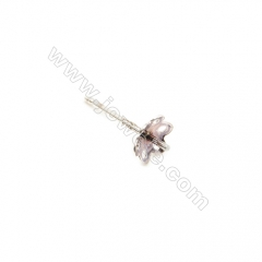 925 Sterling Silver Earring Stud, Size 5.5x13mm, Pin 0.75mm, Tray 5.5mm, 40pcs/pack