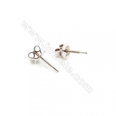 925 Sterling Silver Earring Stud, Size 5.5x12mm, Pin 0.8mm, 20pcs/pack